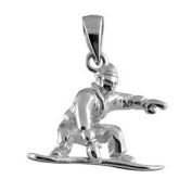 FranceBijoux Snowboarder Pendant 925 Solid Silver 2 g New