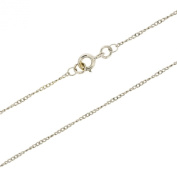 Jewellery 9ct White Gold Twisted Curb Chain 60cm
