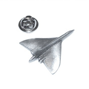 avro vulcan british bomber English Pewter Lapel /tie Pin Badge 3d effect with clip for rear of badge.