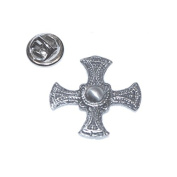st cuthberts cross English Pewter Lapel /tie Pin Badge 3d effect with clip for rear of badge.