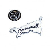 pewter map of county of cornwall Lapel Pin Badge / tie pin