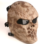 Tactical Airsoft Full Face Protection Mask Hunting Shooting Desert Colour