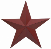 Craft Outlet Antique Star Wall Decor, 60cm , Barn Red