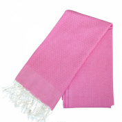 Scents and Feel 100Percent Cotton Solid Fouta Bath Towel, Fuchsia