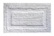 Down Etc 43cm by 60cm Cotton Beau Rivage Bath Rug, White