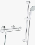 GROHE 34565000 Grohtherm 800 Thermostatic Shower Mixer with Shower Set includes Hand Shower/Shower Rail and Hose