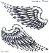 """GGSELL GGSELL tattoo size 21CMx22CM(8.27x8.66"""") non toxic and waterproof hot selling fashionable large Angel wings temporary tattoo sticker for women and man"""""""