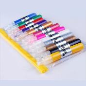12 Colours 3D Nail Art Paint Pen Nail Art DIY Decoration Tool Set