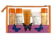 Sanctuary Spa Enjoy The Little Things 6 Piece Gift Set Includes Body Wash, Body Lotion, Body Scrub, Hand Cream, Bath Float & Clear bag