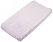 Rumble Tuff Minky Dot Changing Pad Cover, Lavender,Compact