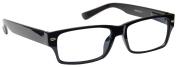 UV Reader Near Sighted Distance Glasses For Myopia Wayfarer Style Black -1.50 Strength Mens Womens Inc Case UVMR006