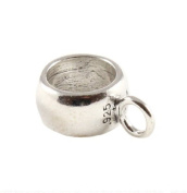 Sterling Silver Dangle Ring To Convert Charm To Dangle Charm For European Style Bracelets