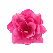 Claire's Girls and Womens Large Hot Pink Flower Hair Clip in Hot Pink