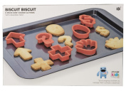 Ethos 6-Piece Kids Baking Tray with Cookie Cutters Set, Red
