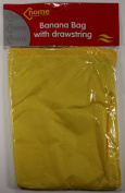 Insulated Yellow Drawstring Banana Storage Bag 36cm x 25cm Prevents Ripening