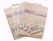 Reed placemat & coaster set for 4 people in Silver grey
