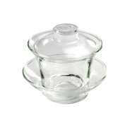 The Tea Makers of London Traditional Chinese Clear Glass Gaiwan- 100ml