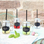 Mason Jar Tumbler with Lid and Straw