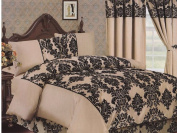 Antonio Damask 4 Pcs Flock Complete Bedding Set Duvet Cover Set Double & King by Lizzy®