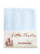 Brand New Baby Blue Cot Bed Pillow Case 60 x 40 - 100% Luxury Brushed Cotton