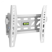 Intecbrackets - Slim fitting adjustable tilting white TV wall bracket fits screens 19 20 22 23 24 26 27 28 29 30 32 34 36 37 39 40 extra strong with lifetime warranty