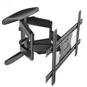 Intecbrackets® - Professional double arm extra strong slim fitting (just 50mm gap) swivel and tilt TV wall bracket fits 40 42 46 47 50 52 55 60 65 70 TVs with long 500mm extendable reach complete with lifetime warranty