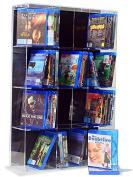SORA Acrylic Blu-ray Rack with black back-panel