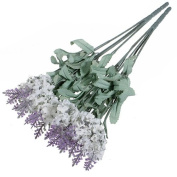 1x 10 Heads Artificial Lavender Silk Flower for Bouquets Wedding Home Party Decor