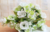 7 bouquet of 21 Heads white artificial flowers artificial flowers wholesale silk flower corsage
