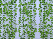 RayLineDo 2.4m Artificial ivy Green Vine Leaf Garland Plants Fake Foliage Flowers Decoration