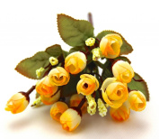 YELLOW Colour Small Rosebuds Bouquet of Roses Artificial Flowers Home Wall Party Decor Wedding Decal