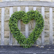 Boxwood Heart Artificial Hanging Buxus Topiary Heart