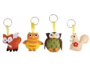 Woodland Friends Felt Keyring Craft Kit - Makes 4