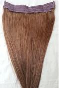 46cm 100% HALO Human Hair Extensions (ONE PIECE NO CLIP) #6 Medium Chestnut Brown