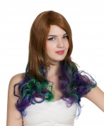 PINKISS High Quality Fashion Colourful Harajuku Lotita Style Cosplay Wig with Free Wig Cap