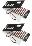 Blax Brown Snag-Free Hair Elastics - 4mm 2 Pack...