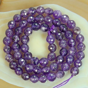 Round Faceted Amethyst Gemstone Beads