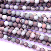 Frosted Unpolished Natural Chouhua Jasper Round 6mm Gemstone Loose Beads Jewerly Making Findings