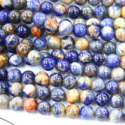 Natural Blue Red Special Sodalite Round Gemstone Loose Beads Jewerly Making Findings