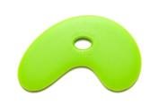 Sherrill Mudtools Polymer Rib for Pottery and Clay Artists, Small Bowl Rib, Green Medium Flex