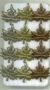 Metallic Assorted Leaf Brads Leaves