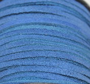 3mm - Genuine Split Suede Leather Lace - (1.6-1.9mm Thick) -Various Colours - Packing in 5 Yards, 10 Yards - Hank and 25 Yards per Spool (10 Yards, Blue
