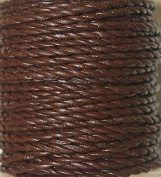 Genuine Leather Cord - * High Quality * 1mm-round-2 Strands- Twisted - Available in 3 Colours - Natural, Black, Red Brown - In Length of 5 Yards, 10 Yards - Hank & 25 Yards - Spool (1-Yard, Red Brown