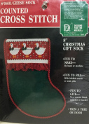 Christmas Geese Sock Counted Cross Stitch Kit