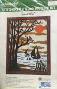 "WonderArt Stitchery 23cm x 30cm Picture Kit ""Sunset Bay"""