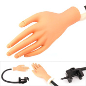 Beauticom USA (Model V-227-PH) Flexible Soft Nail Practise Hand with Adjustable Holder Stand
