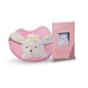 Pink/Blue Princess Photo Frame & Bib Set
