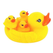 Ookamiwolf Baby Bathing Developmental Toys Water Floating Squeaky Ducks,Yellow