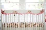 New Arrivals Crib Rail Cover, Rhapsody in Pink