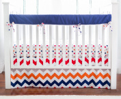 New Arrivals Crib Rail Cover, Zig Zag in Rugby